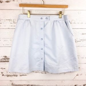 🐢 Vintage 80s LILY'S Blue Mini Skirt Pockets